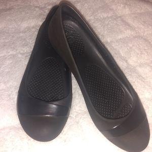 Ballet Gianna Crocs black shoes size 7 (W )